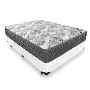 Cama Box Viúva Branca + Colchão De Molas Ensacadas - Ortobom - ISO SuperPocket 128x188x60cm