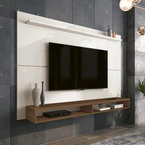 Painel para TV 60 Polegadas Maxi Off White e Naturale 180cm