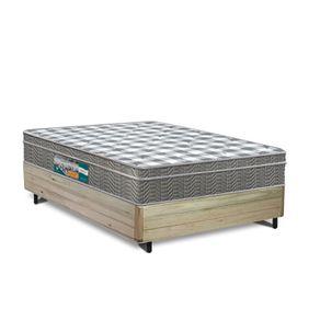 Cama Box Viúva Rústica + Colchão Espuma D33 - Lucas Home - Confort D33 128x188x63cm