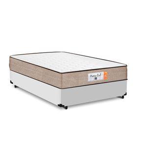 Cama Box Casal Branca + Colchão de Molas Superlastic - Comfort Prime - Coil Crystal - 138x188x53cm