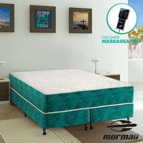 Cama Box Queen + Colchão Massageador - Mormaii - Smartzone Rupestre 158x198x64cm