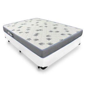 Cama Box Viúva + Colchão De Espuma D33 - Ortobom - Light 128x188x52cm - Branca