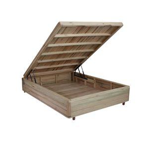 Somiê Cama Box com Baú Casal - Lucas Home - Rústica 138x188x42cm