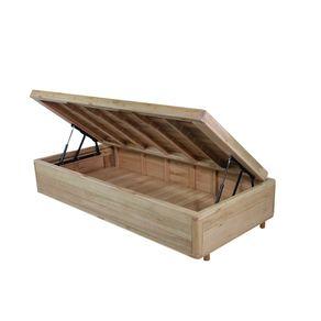 Somiê Cama Box com Baú Solteiro - Lucas Home - Rústica 88x188x42cm