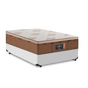 Cama Box Viúva Branca + Colchão de Molas Ensacadas - Comfort Prime - New Imperador - 128x188x68cm