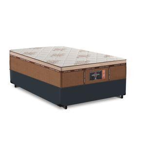 Cama Box Viúva Cinza + Colchão de Molas Ensacadas - Comfort Prime - New Imperador - 128x188x68cm