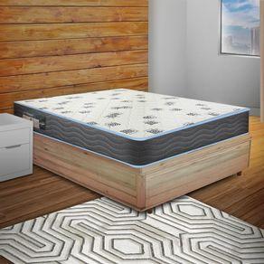 Cama Box Casal Rústica + Colchão De Espuma D33 - Ortobom - Light 138x188x51cm