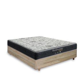 Cama Box Casal Rústica + Colchão De Molas - Probel - Prodormir Sleep Black 138x188x59cm