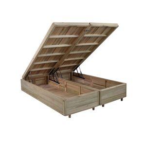 Somiê Cama Box com Baú King - Lucas Home - Rústica 193x203x34cm