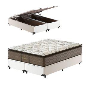 Cama-Box-com-Bau-Super-King-Branca---Colchao-de-Molas-Prolastic---Probel---Guarda-Costas-Platinum-193x203x76cm