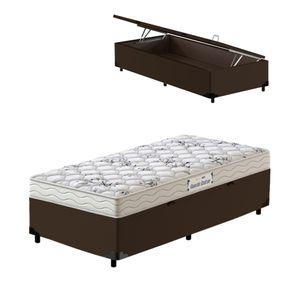 Cama-Box-Bau-Solteiro-Marrom---Colchao-de-Espuma-D33---Probel---Guarda-Costas-ProEvidence---88x188x60cm