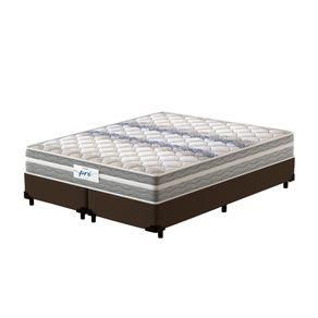 Cama-Box-Queen-Marrom---Colchao-de-Molas-Prolastic---Probel---Pro-Basic---158x198x59cm