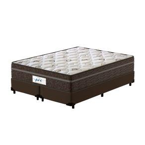 Cama-Box-Queen-Marrom---Colchao-de-Molas-Ensacadas---Probel---Pro-Sleep-Max---158x198x65cm