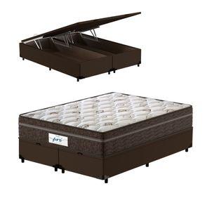 Cama-Box-Bau-Queen-Marrom---Colchao-de-Molas-Ensacadas---Probel---Pro-Sleep-Max---158x198x72cm