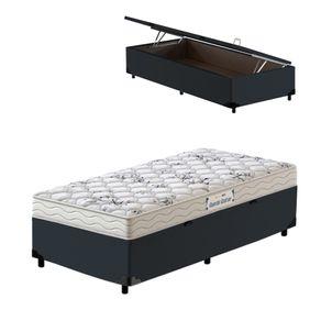 Cama-Box-Bau-Solteiro-Cinza---Colchao-de-Espuma-D33---Probel---Guarda-Costas-ProEvidence---88x188x60cm