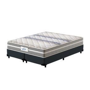 Cama-Box-Queen-Cinza---Colchao-de-Molas-Prolastic---Probel---Pro-Basic---158x198x59cm