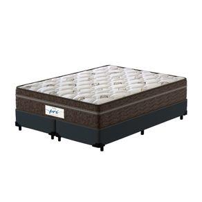 Cama-Box-Super-King-Cinza---Colchao-de-Molas-Ensacadas---Probel---Pro-Sleep-Max---193x203x65cm