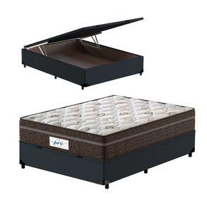Cama-Box-Bau-Viuva-Cinza---Colchao-de-Molas-Ensacadas---Probel---Pro-Sleep-Max---128x188x72cm